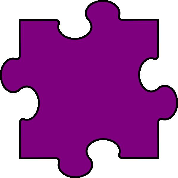 Light Purple Puzzle Piece Clip Art at Clker.com - vector ...