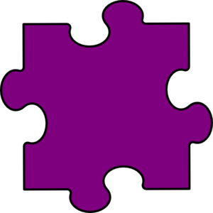 Light Purple Puzzle Piece Clip Art