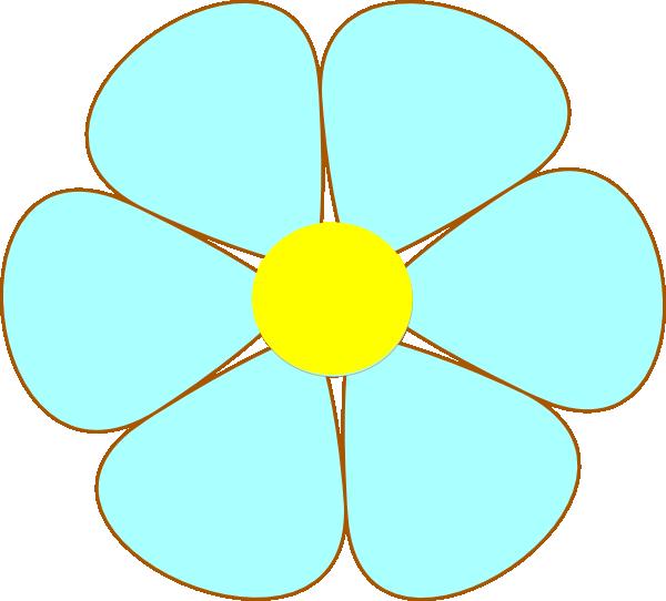 Black Flower Clip Art At Clker Com: Flower Clip Art At Clker.com
