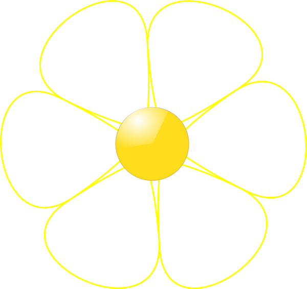 White flower yellow middle clip art at clker vector clip art download this image as mightylinksfo