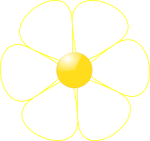 white flower yellow middle clip art at clker com vector clip art rh clker com white flower vine clipart white flower vine clipart