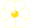 White Flower Yellow Middle Clip Art