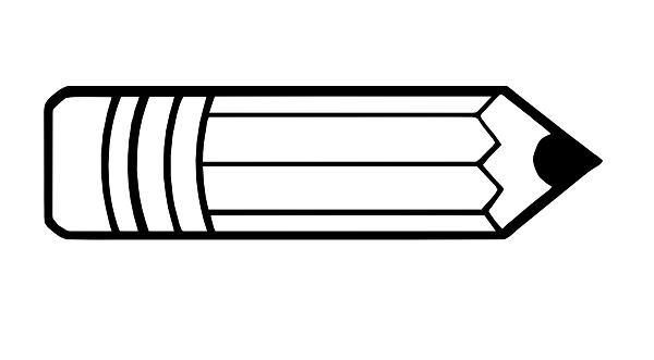 Pencil Outline Clip Art at Clker