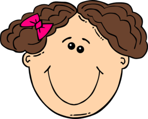 Smiling Short Brown Hair Girl Clip Art