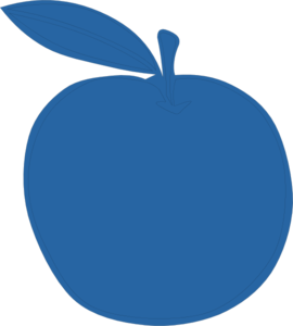 Bluest Apple Ever Clip Art