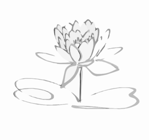 Lotus Logo Black Grayshadow Flower Only Clip Art