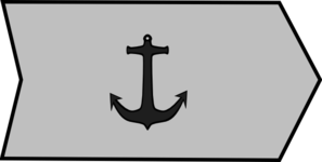 Grey Ship At Anchor Clip Art