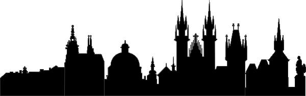 Silhouette von Prag