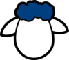 Blue Counter Sheep Clip Art