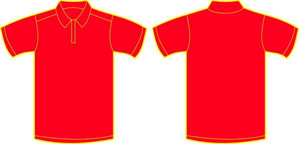 red polo shirt clip art at clkercom vector clip art