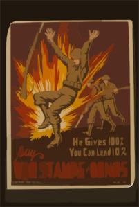 He Gives 100%, You Can Lend 10% Buy War Stamps & Bonds / John Mccrady. Clip Art