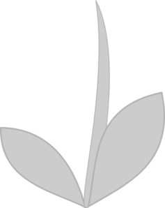 Gray Stem And Leaves Clip Art