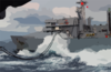 Usns Arctic (t-aoe 8) Transfers Fuel And Supplies To Uss George Washington (cvn 73) Clip Art