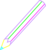 Pencil Outline Color Clip Art