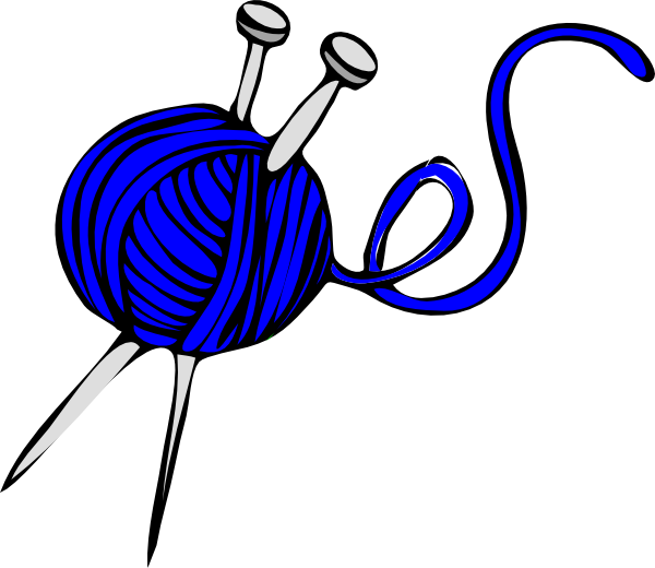 Knitting Clipart Png : Blue yarn clip art at clker vector online