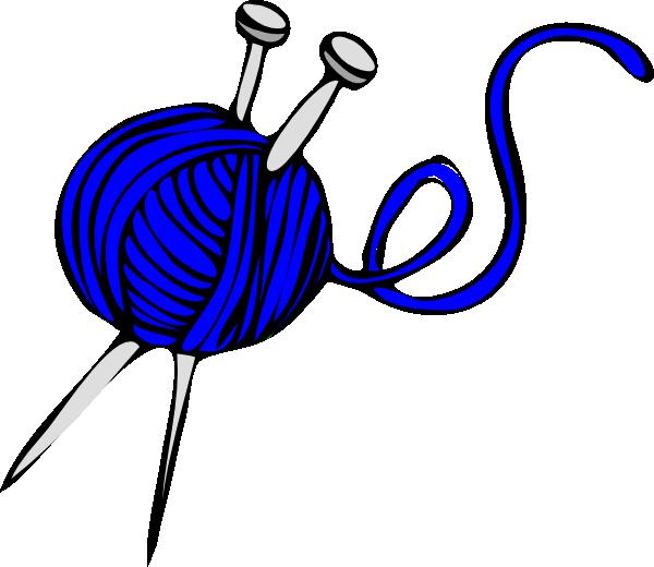 Knitting Images Free Clip Art : Blue yarn clip art at clker vector online