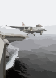 S-3b Launches Off The Flight Deck Clip Art