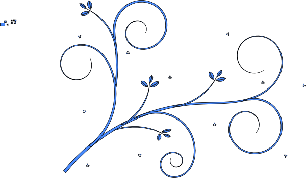 Line Art Vector Design Png : Floral design blueok clip art at clker vector