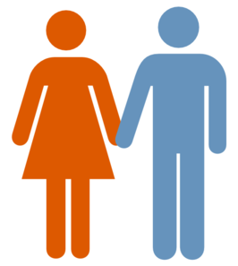 man and woman blue orange icon clip art at clker com vector clip rh clker com man and woman clip art and cartoons man and woman clip art and cartoons
