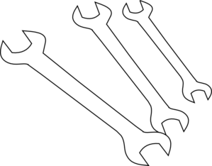 Wrenches Outline Clip Art