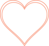 Double Outline Heart Peach Clip Art