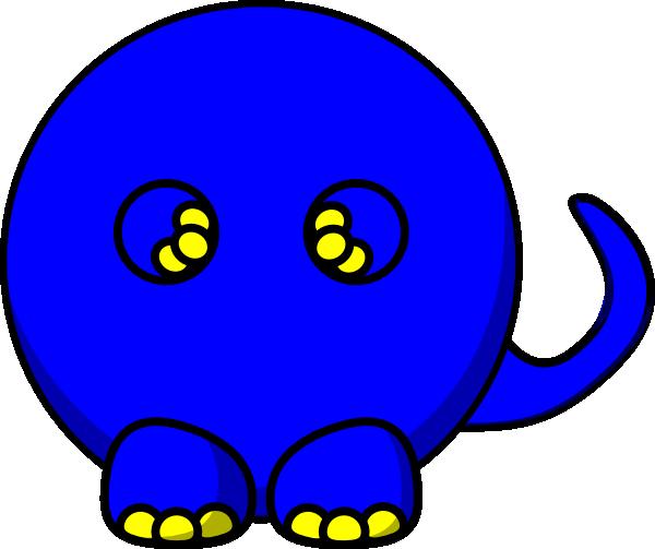 Blue T Rex Body Clip Art At Clker Com Vector Clip Art