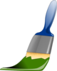 Green Paintbrush Clip Art
