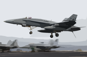 An F/a-18c  Hornet  Assigned To The  Royal Maces  Of Strike Fighter Squadron Two Seven (vfa-27) Clip Art
