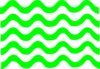 Green Wave Lines Clip Art