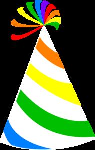 Rainbow Party Hat Clip Art