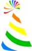 Rainbow Party Hat Clip Art