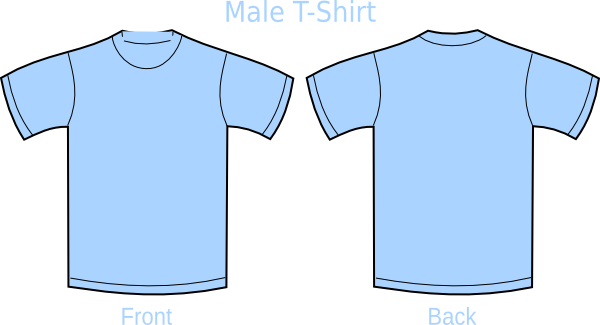 Plain t shirts clip art at vector clip art for Blue t shirt template