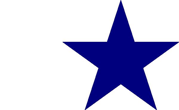 solid blue star clip art at clker com vector clip art