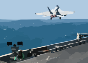 An F/a-18e Super Hornet Launches From One Of Four Steam Powered Catapults On The Flight Deck Aboard Uss Abraham Lincoln (cvn 72). Clip Art