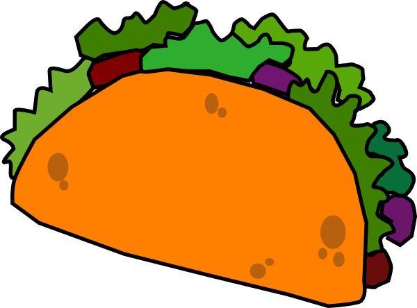 Back > Gallery For > Black And White Taco Clip Art