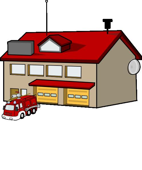 firehouse clip art at clker com vector clip art online royalty rh clker com fire station clip art free fire brigade clipart