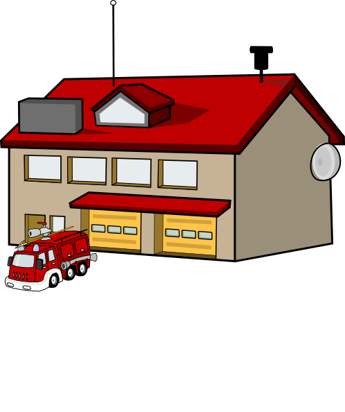 firehouse clip art at clker com vector clip art online royalty rh clker com House Clip Art firehouse clipart free