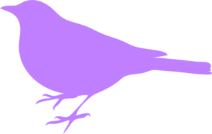 Purple Bird Silhouette Clip Art