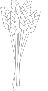 Wheat Black And White Clip Art