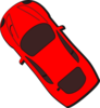 Red Car - Top View - 130 Clip Art