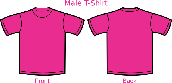 pink shirt template clip art at vector clip