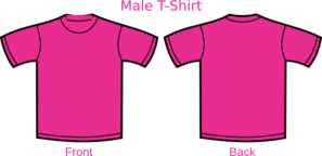Pink Shirt Template Clip Art