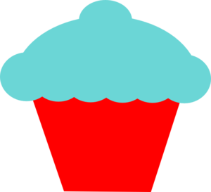 Blue And Red Cupcake Clip Art