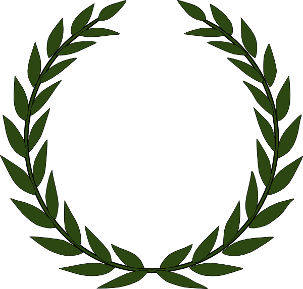 Akiko Olive Wreath Clip Art At Clker Com Vector Clip Art