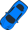 Blue Car - Top View - 230 Clip Art