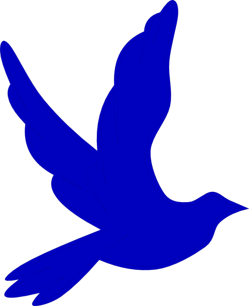 Blue Dove Clip Art at Clker.com - vector clip art online, royalty free ...