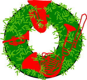Brass Quartet Wreath Clip Art