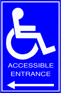 Accessable Entrance Sign Clip Art