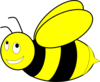 Black And Yellow Honey Bee Clip Art