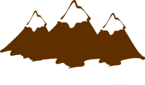 Brown Mountain Peaks Clip Art